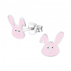 Rabbit - 925 Sterling Silver Colorful ear studs for kids A4S24727