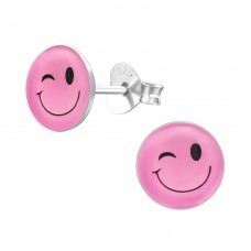 Wink - 925 Sterling Silver Colorful ear studs for kids A4S24818