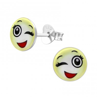 Wink - 925 Sterling Silver Colorful ear studs for kids A4S24819