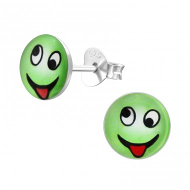 Cheeky - 925 Sterling Silver Ear studs with enamel colors A4S24821