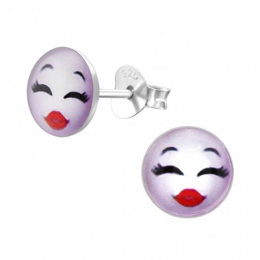 Kiss - 925 Sterling Silver Colorful ear studs for kids A4S24826