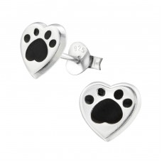 Heart - 925 Sterling Silver Colorful ear studs for kids A4S26293