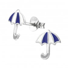 Umbrella - 925 Sterling Silver Colorful ear studs for kids A4S26312