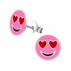 Emotion Love - 925 Sterling Silver Colorful ear studs for kids A4S26407