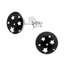 Starry Sky - 925 Sterling Silver Colorful ear studs for kids A4S28703