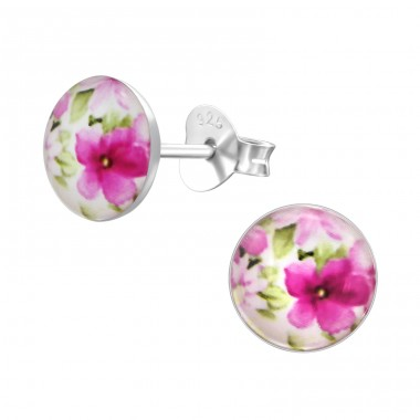 Flowery - 925 Sterling Silver Colorful ear studs for kids A4S28709