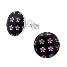 Flowery - 925 Sterling Silver Colorful ear studs for kids A4S28711