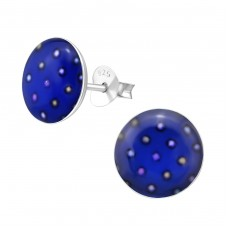 Dotted - 925 Sterling Silver Colorful ear studs for kids A4S28716