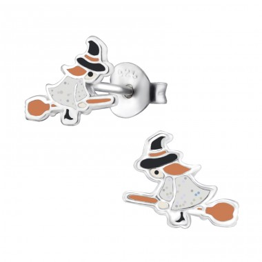 Witch - 925 Sterling Silver Colorful ear studs for kids A4S29339