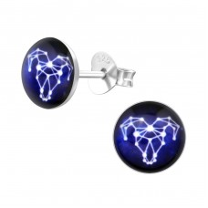 Aries Zodiac Sign - 925 Sterling Silver Colorful ear studs for kids A4S31945