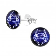 Cancer Zodiac Sign - 925 Sterling Silver Colorful ear studs for kids A4S31948