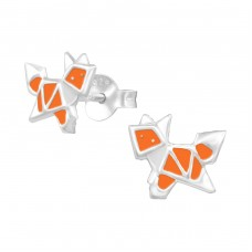 Fox - 925 Sterling Silver Colorful ear studs for kids A4S33010
