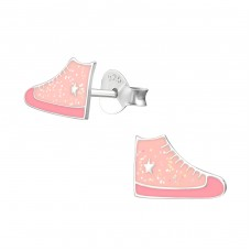 Sneaker - 925 Sterling Silver Colorful ear studs for kids A4S33513