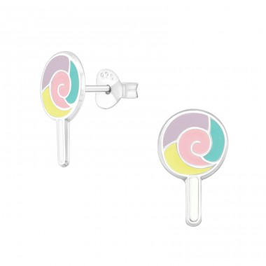 Lollypop - 925 Sterling Silver Colorful Earrings For Kids A4S33559