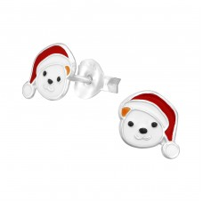 Bear - 925 Sterling Silver Colorful ear studs for kids A4S33590