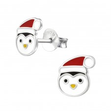 Penguin - 925 Sterling Silver Colorful ear studs for kids A4S33599