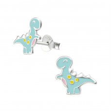 Dinosaur - 925 Sterling Silver Colorful ear studs for kids A4S34355