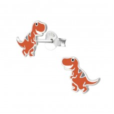 Dinosaur - 925 Sterling Silver Colorful ear studs for kids A4S34357
