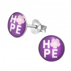 Hope - 925 Sterling Silver Colorful ear studs for kids A4S35169
