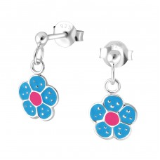 Flower - 925 Sterling Silver Colorful ear studs for kids A4S35630