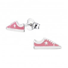 Sneaker - 925 Sterling Silver Colorful ear studs for kids A4S3638