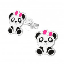 Panda - 925 Sterling Silver Colorful ear studs for kids A4S36467