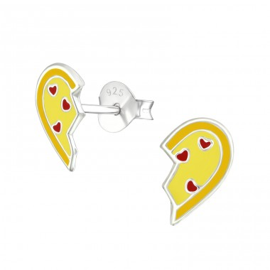 Broken Heart - 925 Sterling Silver Colorful ear studs for kids A4S36565