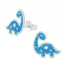 Dinosaur - 925 Sterling Silver Colorful ear studs for kids A4S36940