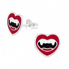Vampire Mouth - 925 Sterling Silver Colorful ear studs for kids A4S36941