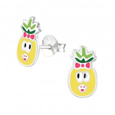 Pineapple - 925 Sterling Silver Colorful ear studs for kids A4S36970