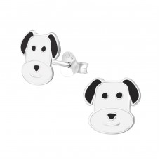 Dog - 925 Sterling Silver Colorful ear studs for kids A4S37077