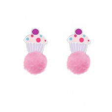Cupcake - 925 Sterling Silver Colorful ear studs for kids A4S37148