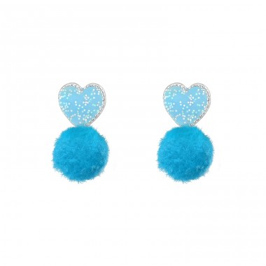 Heart - 925 Sterling Silver Colorful ear studs for kids A4S37152