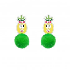 Pineapple - 925 Sterling Silver Colorful ear studs for kids A4S37154