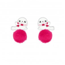 Seal - 925 Sterling Silver Colorful ear studs for kids A4S37155