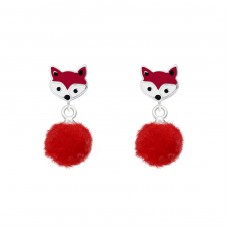 Fox - 925 Sterling Silver Colorful ear studs for kids A4S37157