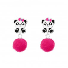 Panda - 925 Sterling Silver Colorful ear studs for kids A4S37159