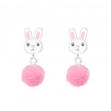 Rabbit - 925 Sterling Silver Colorful ear studs for kids A4S37164