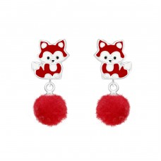Fox - 925 Sterling Silver Colorful ear studs for kids A4S37165