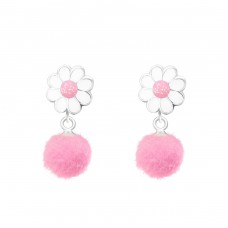 Flower - 925 Sterling Silver Colorful ear studs for kids A4S37167