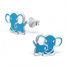 Elephant - 925 Sterling Silver Colorful ear studs for kids A4S3719