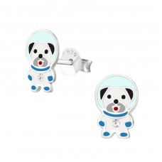 Dog Space - 925 Sterling Silver Colorful earrings for kids A4S37211