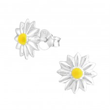 Flower - 925 Sterling Silver Colorful ear studs for kids A4S37248