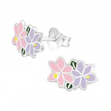 Jasmine - 925 Sterling Silver Colorful ear studs for kids A4S37487
