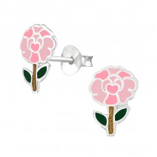 Carnation - 925 Sterling Silver Colorful ear studs for kids A4S37488