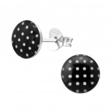 Dotted - 925 Sterling Silver Colorful earrings for kids A4S37511