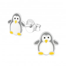 Penguin - 925 Sterling Silver Colorful ear studs for kids A4S37515