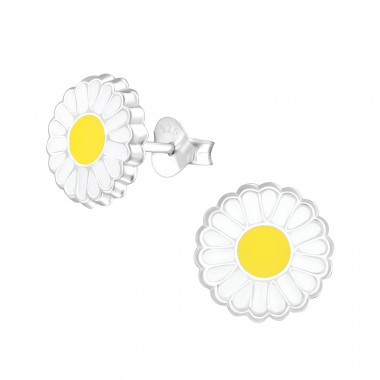 Flower - 925 Sterling Silver Colorful ear studs for kids A4S37518