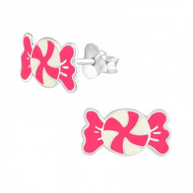 Candy - 925 Sterling Silver Colorful ear studs for kids A4S37889