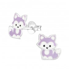 Fox - 925 Sterling Silver Colorful ear studs for kids A4S38008